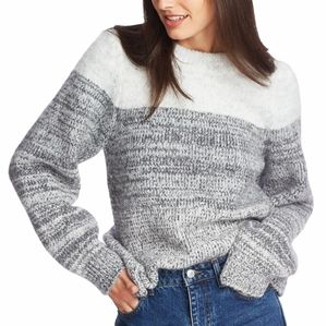 1.STATE Colorblocked Pullover Sweater